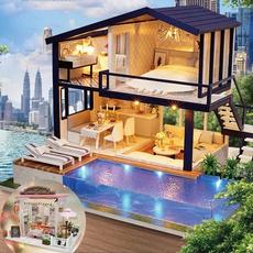 decoration, woodenhouse, diydollhouse, Home & Living