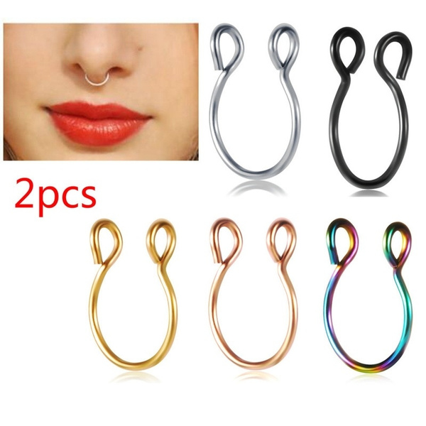cliponnosering, Steel, Stainless Steel, Jewelry