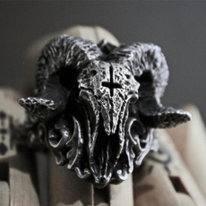 Goth, Stainless Steel, punk rings, Jewelry