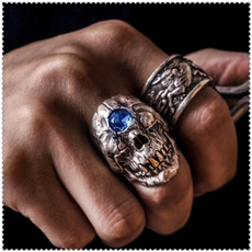 Goth, gold, punk rings, Zombies