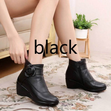 wedge, Plus Size, Winter, casual leather shoes