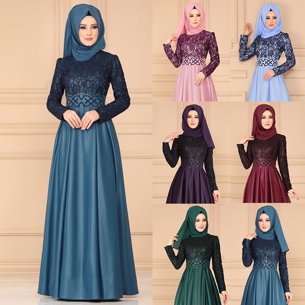 Chic, Waist, dressesforwomen, abayamuslimdres