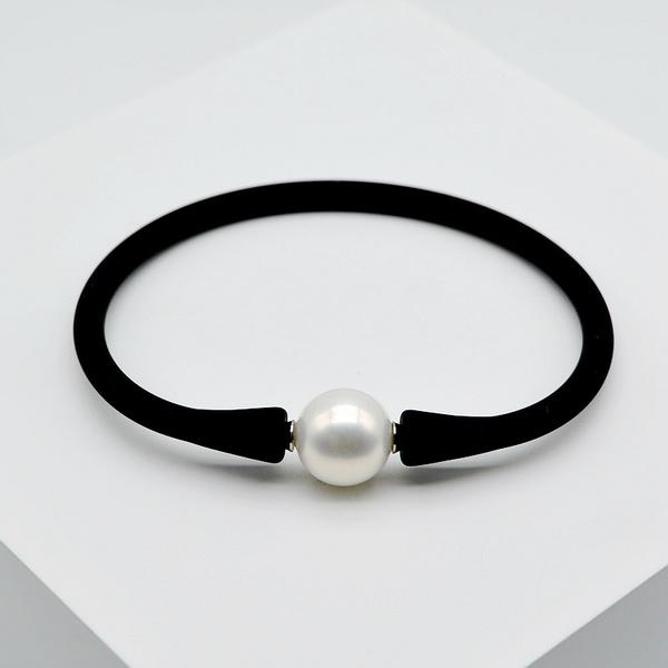 baroquepearl, Pearl Bracelet, Elastic, unisex