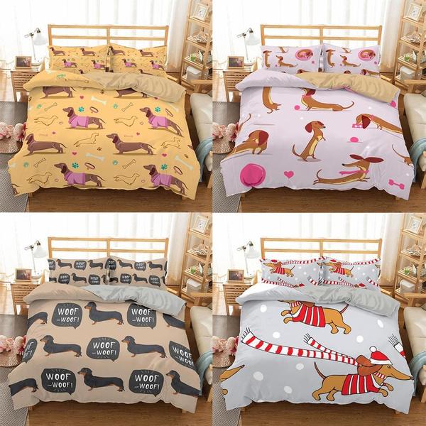 dachshund print comforter
