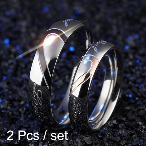 Couple Rings, Steel, Fashion, Love
