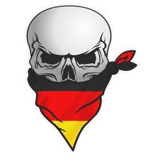 pirateskulldecal, Goth, skull, Car Sticker