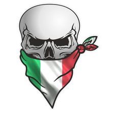 pirateskulldecal, Goth, Italy, skull