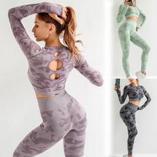 Camouflage Leggings, Leggings, Sports Bra, Yoga