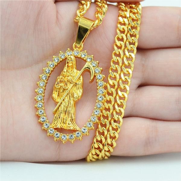 punkpendant, deathnecklace, punk necklace, Jewelry