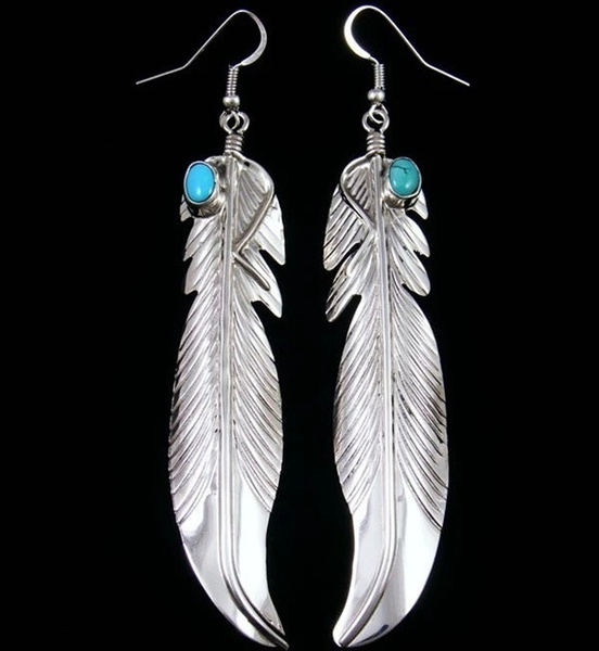 Sterling, Turquoise, Dangle Earring, Jewelry