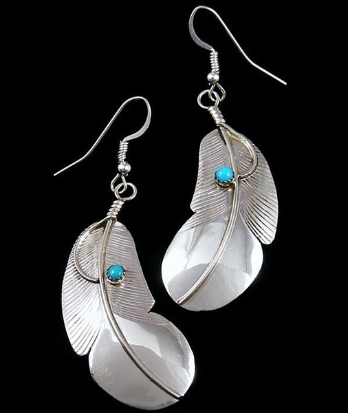 Sterling, Turquoise, Fashion, Dangle Earring