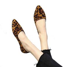 casual shoes, Ballet, leopard print, flat shoe