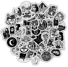 Helmet, Goth, Tech & Gadgets, Black And White
