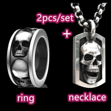 Steel, Goth, hip hop jewelry, Stainless Steel