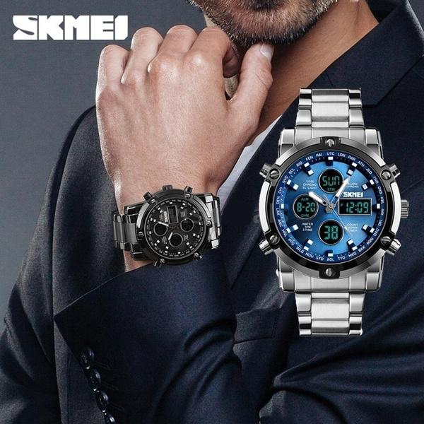 Men Business Watch, stainlesssteelwatch, wristwatch, Clock