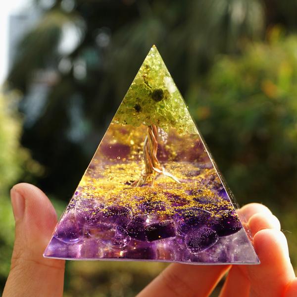 meditationorgone, Tree, orgonepyramid, crystalpyramid