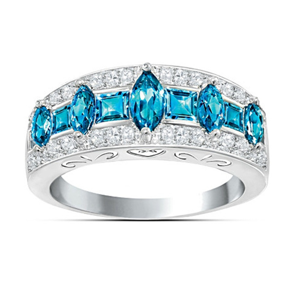 purple gem, DIAMOND, Jewelry, 925 silver rings