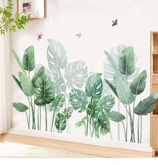 leaves, Plants, windowsticker, Home Decor