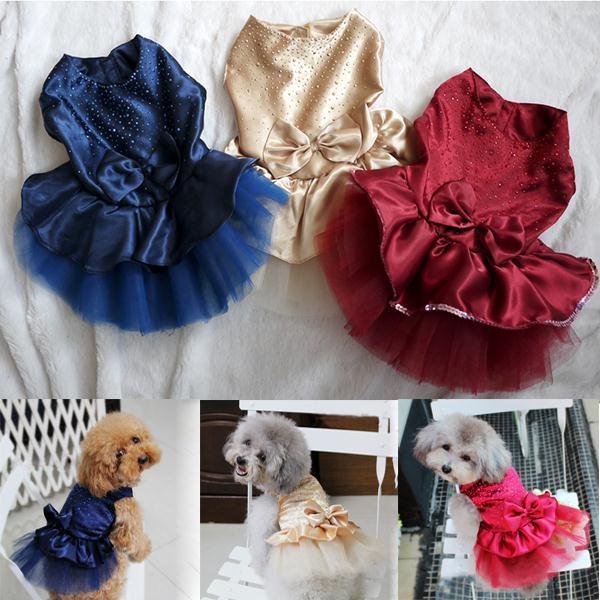 dog dresses, Lace, Summer, Dress