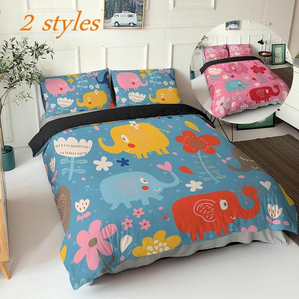 comforterbeddingset, Decor, Elephant, quiltcover