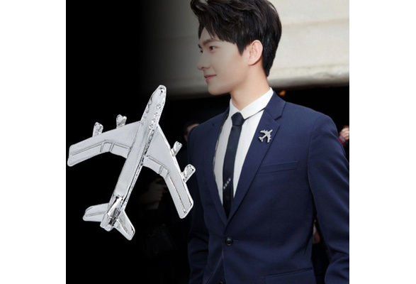 SaiDian Airplane Brooch Pin Plane Smile Small Aircraft Brooch Lapel Pins Collar Badge for Backpack Shirt Bag Accessories