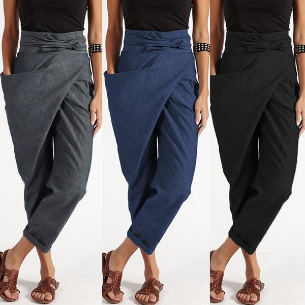harem, zipperpant, Fashion, Casual pants