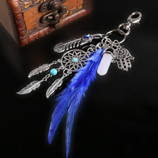 bohokeychain, Fashion, Key Chain, featherkeychain
