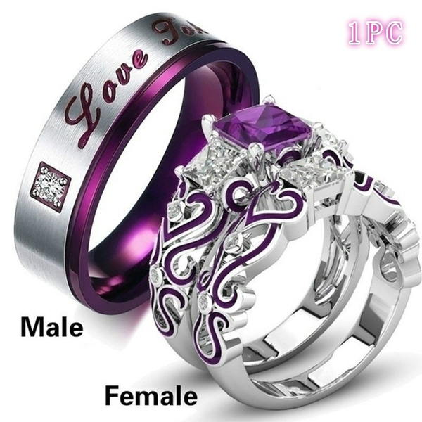 Couple Rings, Steel, Fashion, femalering