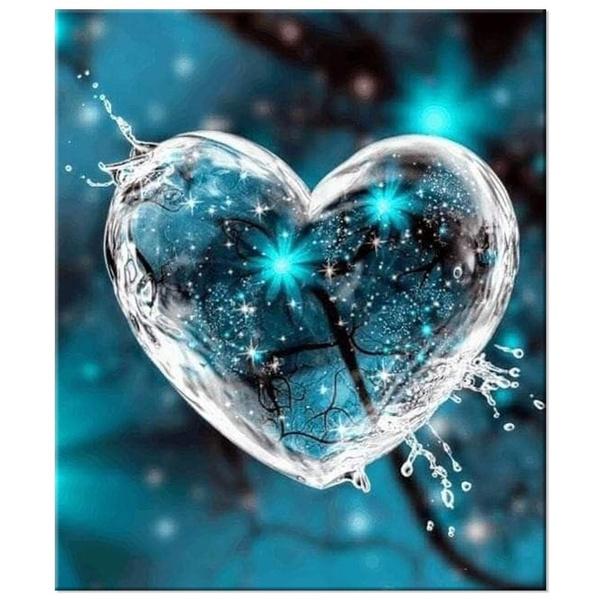 Heart, DIAMOND, art, 3ddiamondpainting