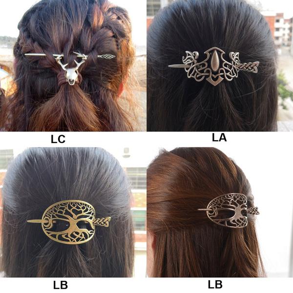 wiccan, hairslide, hair jewelry, vikinghairpin