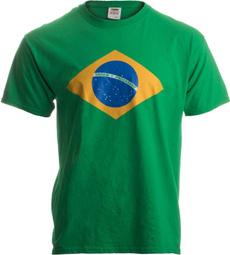 Brazil, whitecottonshirt, Graphic T-Shirt, summerfashiontshirt