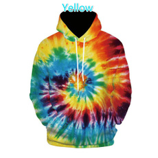 Fashion, Tie Dye, Men, Pullovers