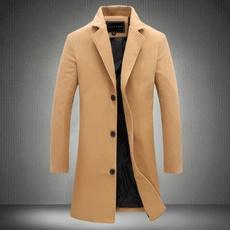 men coat, slim, Winter, Long Coat