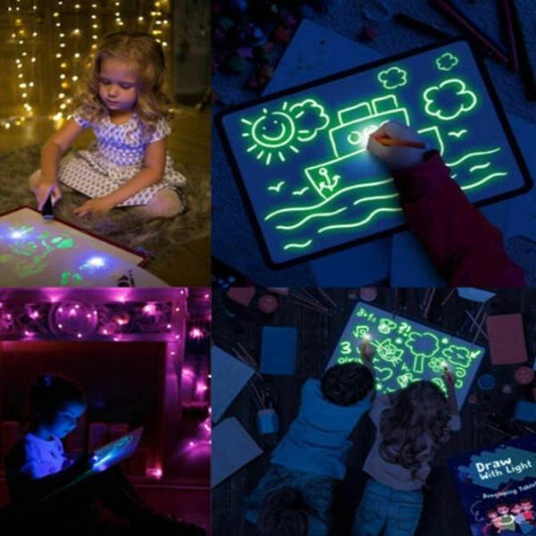 kids, ledboard, Toy, art