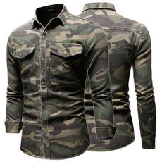 camouflageshirt, lapelfashion, Fashion, Sleeve