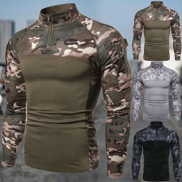 Stand Collar, menfahsion, combattshirt, Outdoor