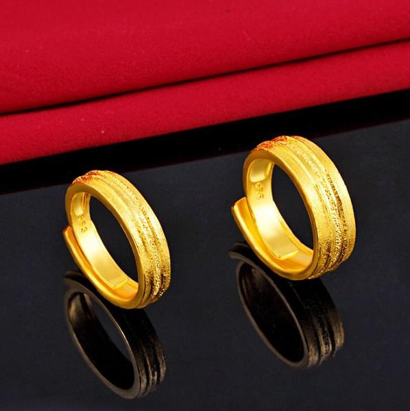 Jewellery, gold, ladiesring, 18 k