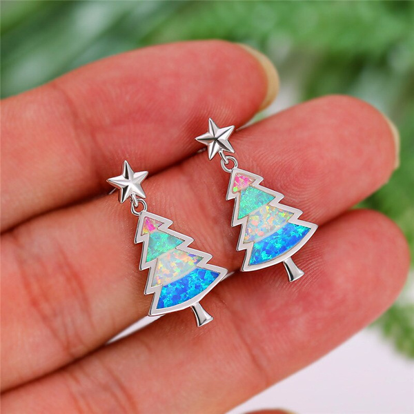 Blues, Christmas, Stud Earring, wedding earrings