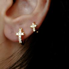 huggieearring, minimalist, Hoop Earring, Jewelry