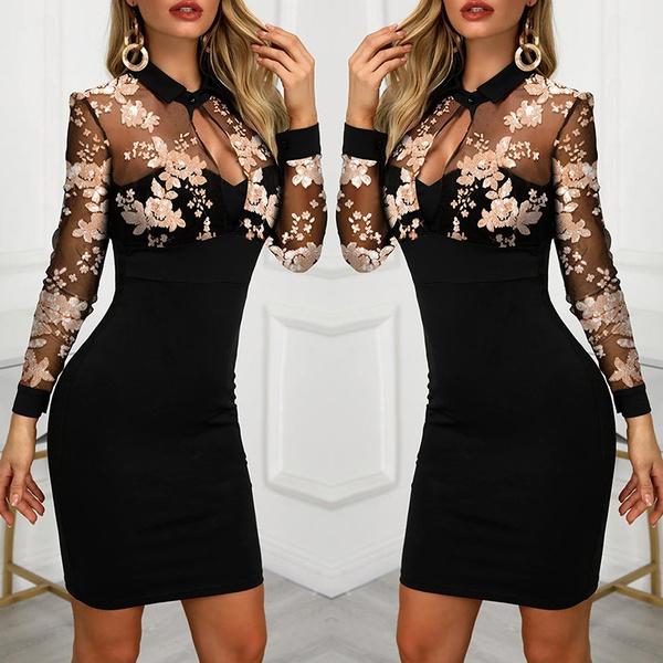 fashion women, summer dress, Embroidery, Dress