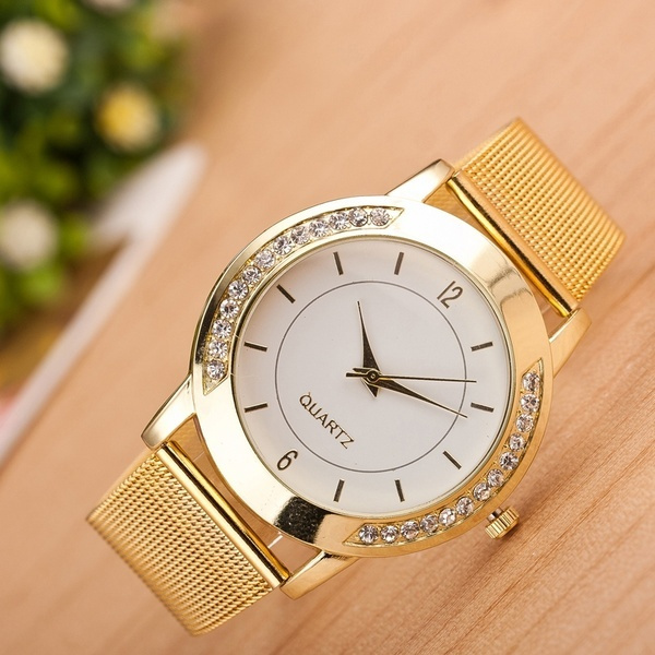Fashion, gold, analogwatche, Stainless Steel