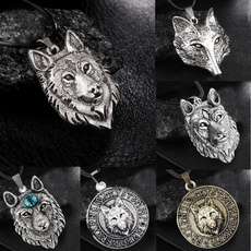 Head, mens necklaces, punk necklace, Jewelry