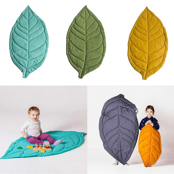 Heaven2017 Newborn Baby Leaf Shape Soft Crawling Carpet Play Mat Kids Room Decoration Green