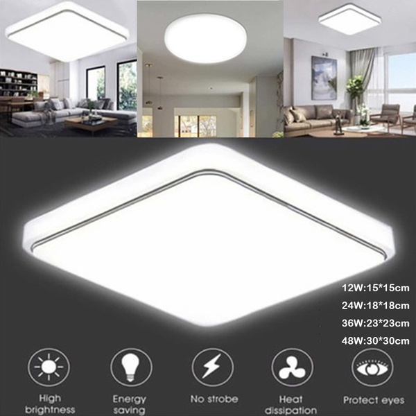 Led Panels Ceiling Light Round Square, Bright Bathroom Ceiling Lights