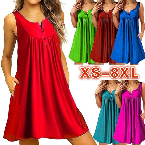 Summer, Plus Size, pleated dress, Dress