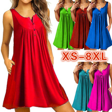 Summer, Plus Size, pleated dress, Vestidos