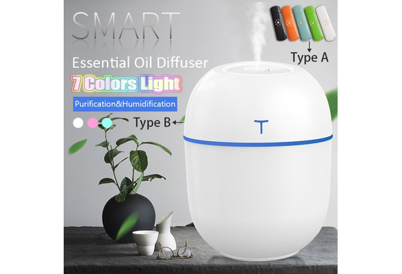 Details about  /Portabale USB LED Night Light Air Humidifier Diffuser Aroma Mist Purifier 200ml