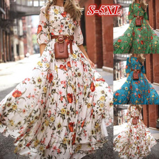 printeddre, Floral print, Autumn Dress, chiffon