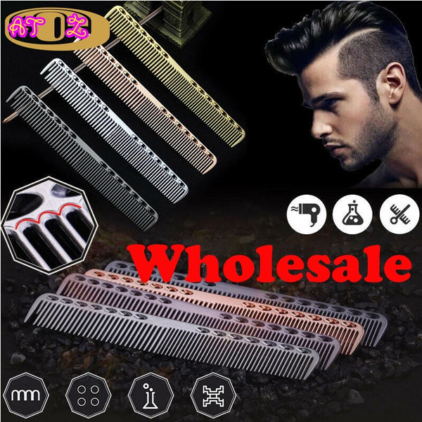 haircomb, salontool, Aluminum, Metal