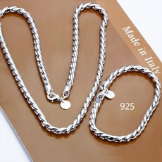 925silverjewelryset, Sterling, Chain Necklace, Fashion